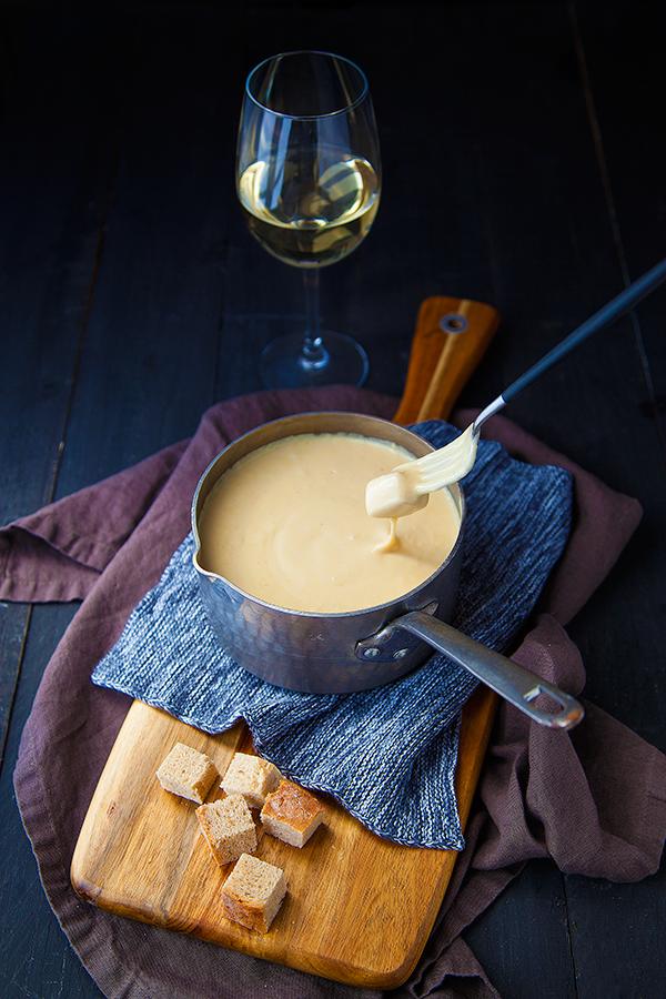 Fondue végétale au vin blanc #fonduesavoyarde