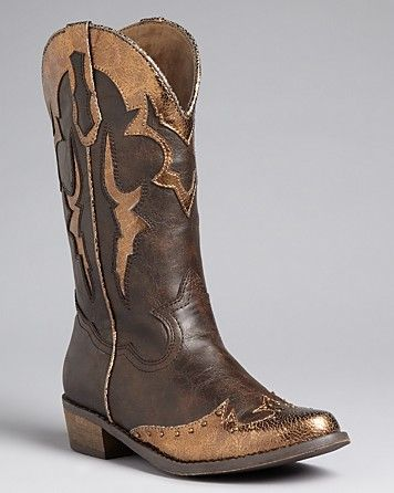 STEVE MADDEN Girls' Cowgirl Boots - Sizes 13, 1-5 Child - Girls