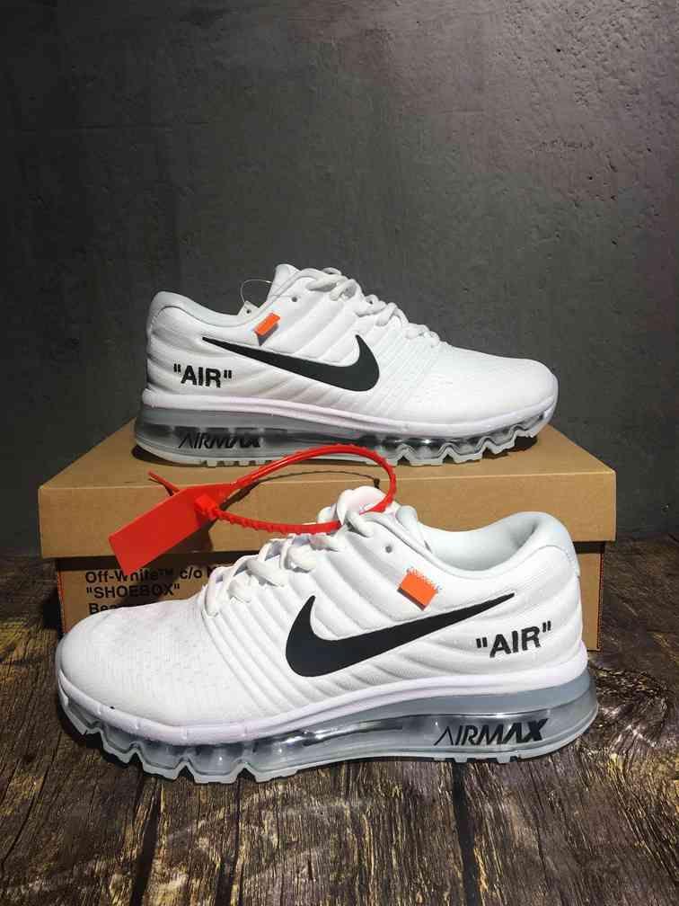 wholesale dealer 4e865 4337e Virgil Abloh Off White x Nike Air Max 2017 white black men shoes