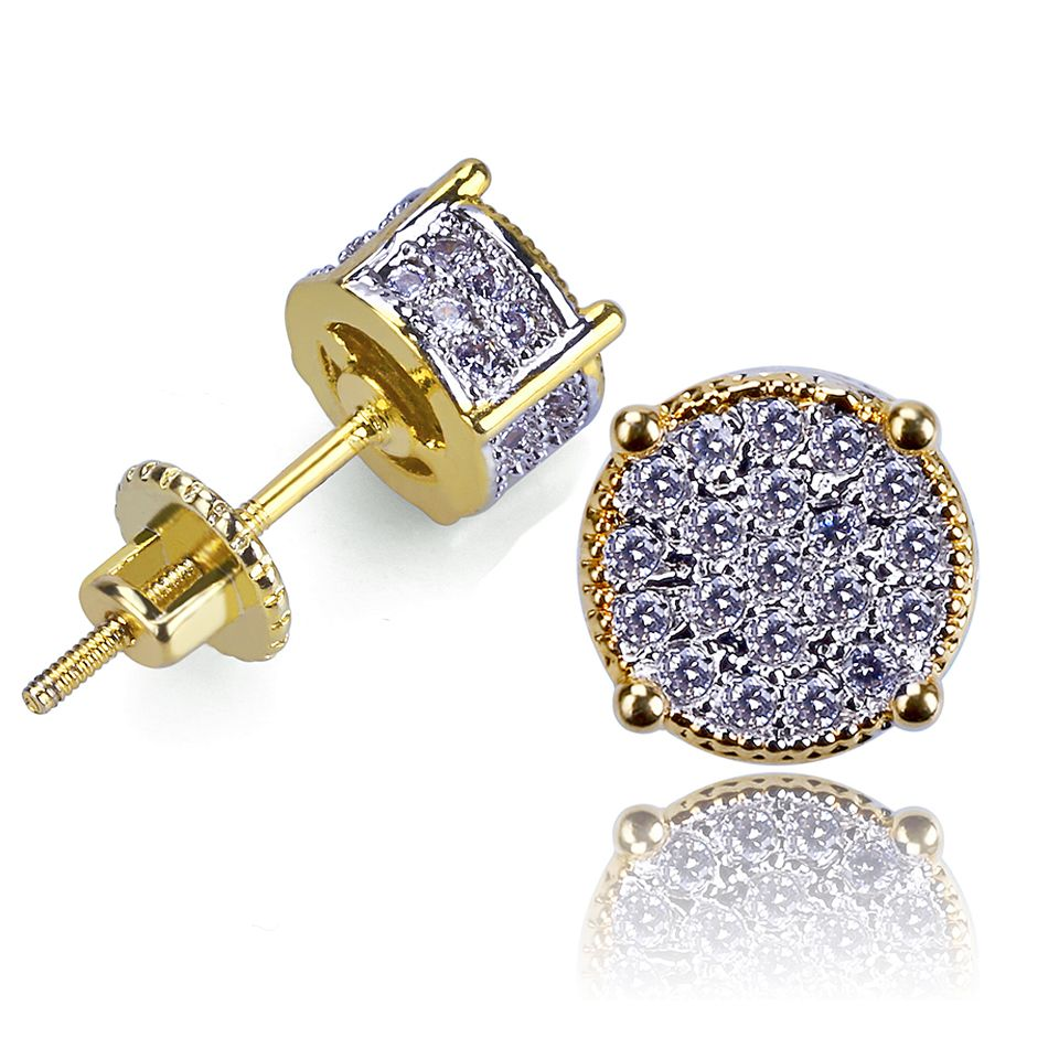 14K Gold Plated Simulated Diamond Studded Earrings For Womens Girls Jewellery