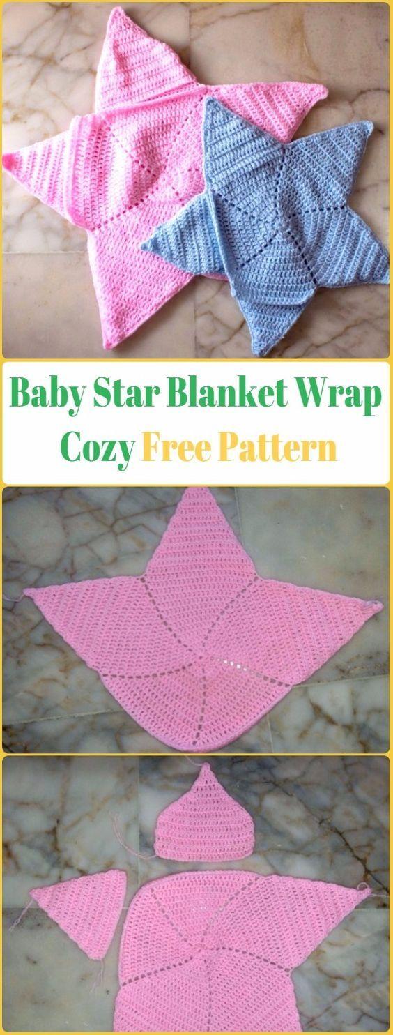 Crochet Baby Star Blanket Wrap Cozy Free Pattern Crochet Baby