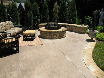 poured concrete patio design ideas colored concrete patio design