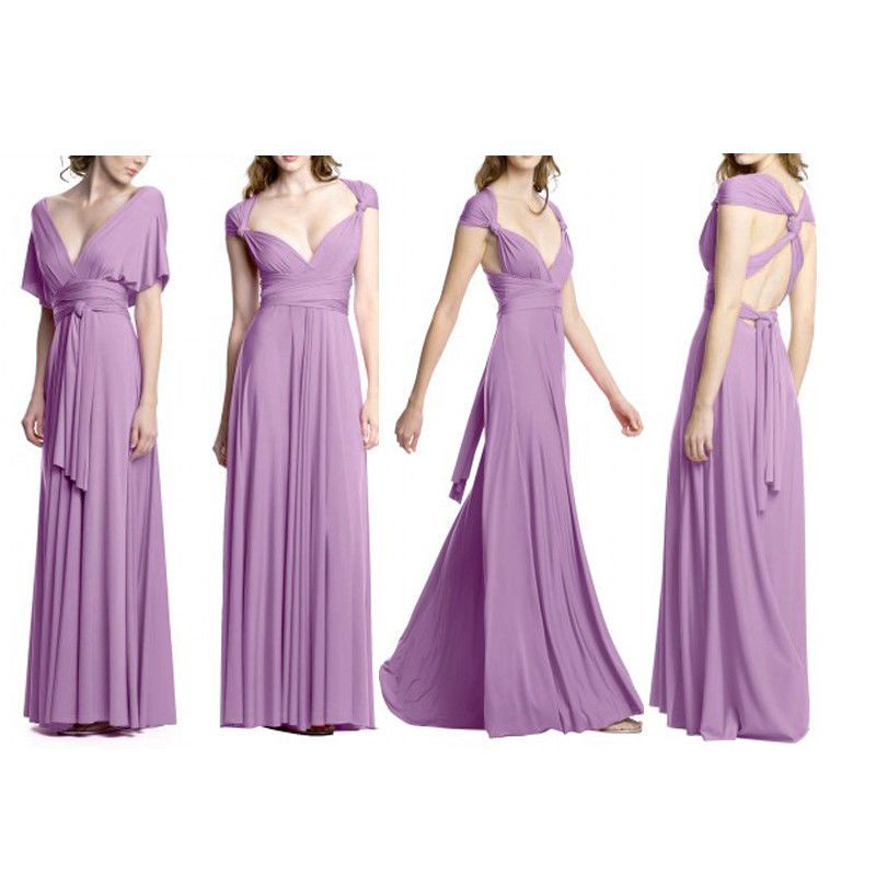 Lavender Pink Flirty Multi Way Wrap Convertible Infinity Bridesmaid ...