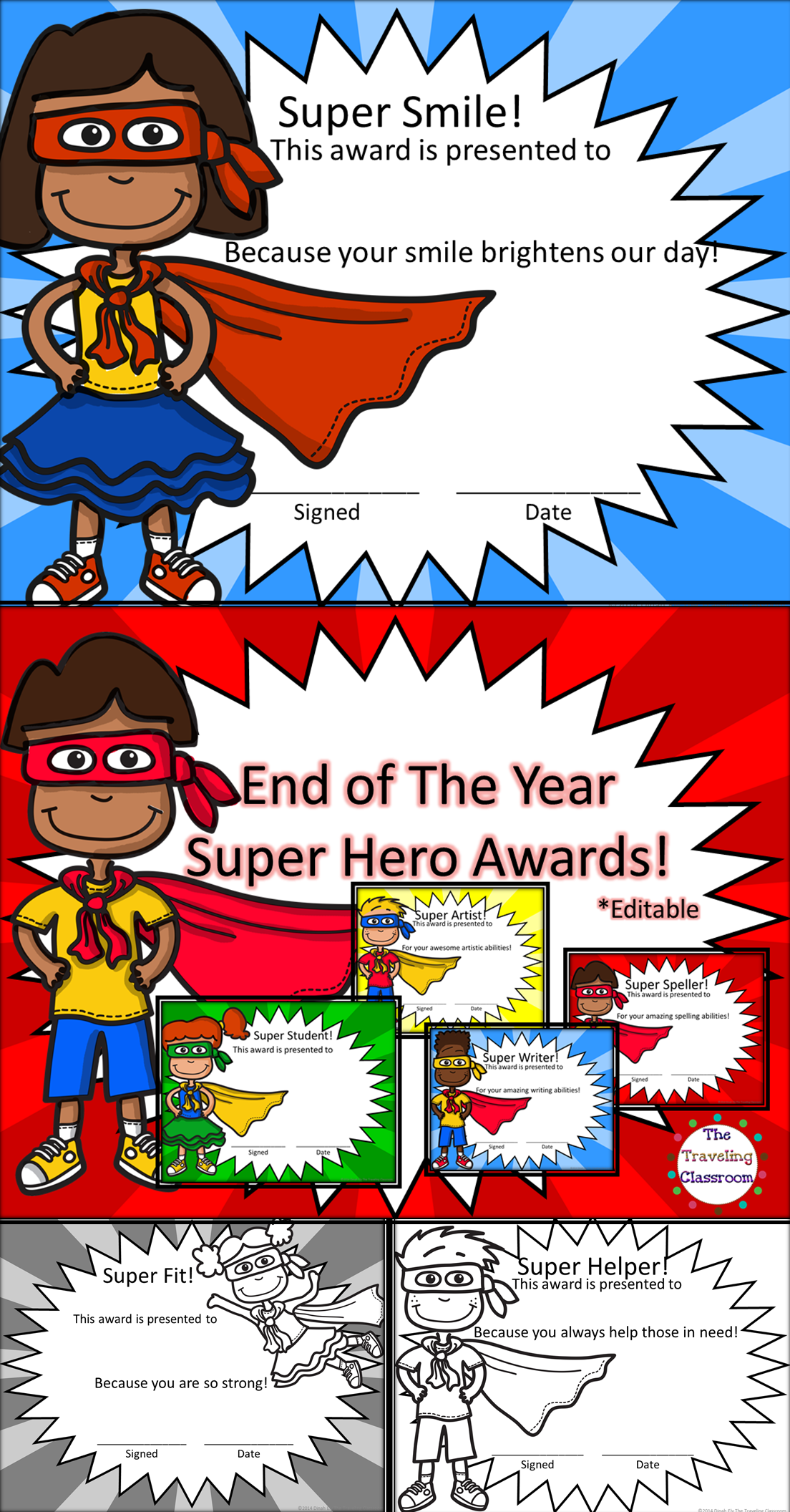 End Of Year Awards Super Hero Awards Superhero Classroom Theme Superhero Classroom Kindergarten Themes