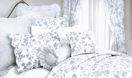 Blue Toile Bedding Country Bedding Sets Luxury Duvet Covers Bedding Set