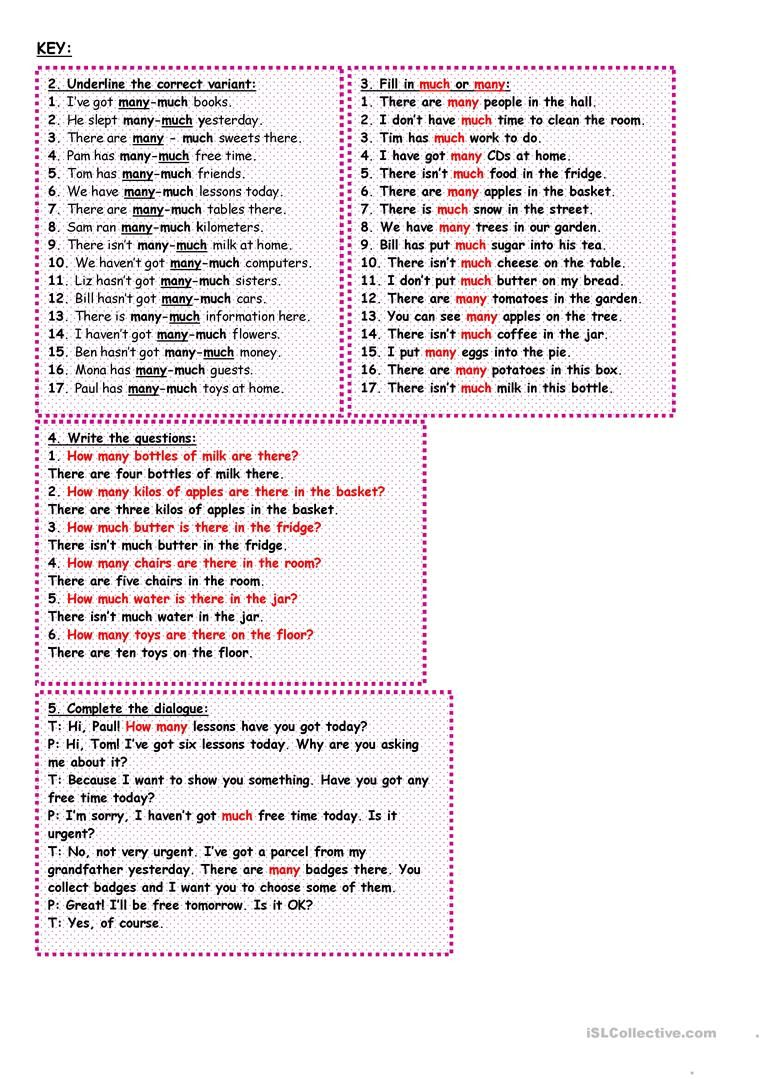 How Much How Many Worksheet Free Esl Printable Worksheets Made By Teachers Learn English Vocabulary English Learning Spoken English Grammar [ 1079 x 763 Pixel ]
