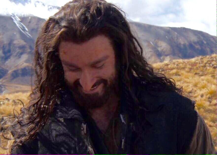 Thorin smiling bts