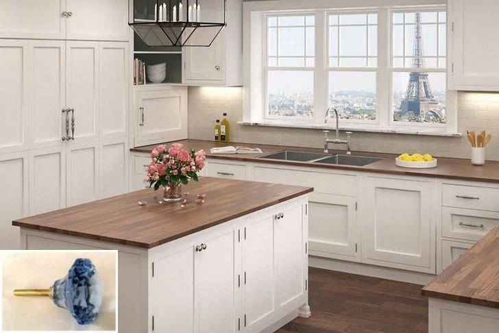 Dark, light, oak, maple, cherry cabinetry and used solid ...