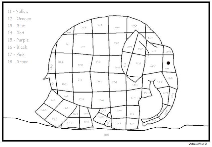 Elmer The Elephant Maths Activities Free Downloadable Elmer