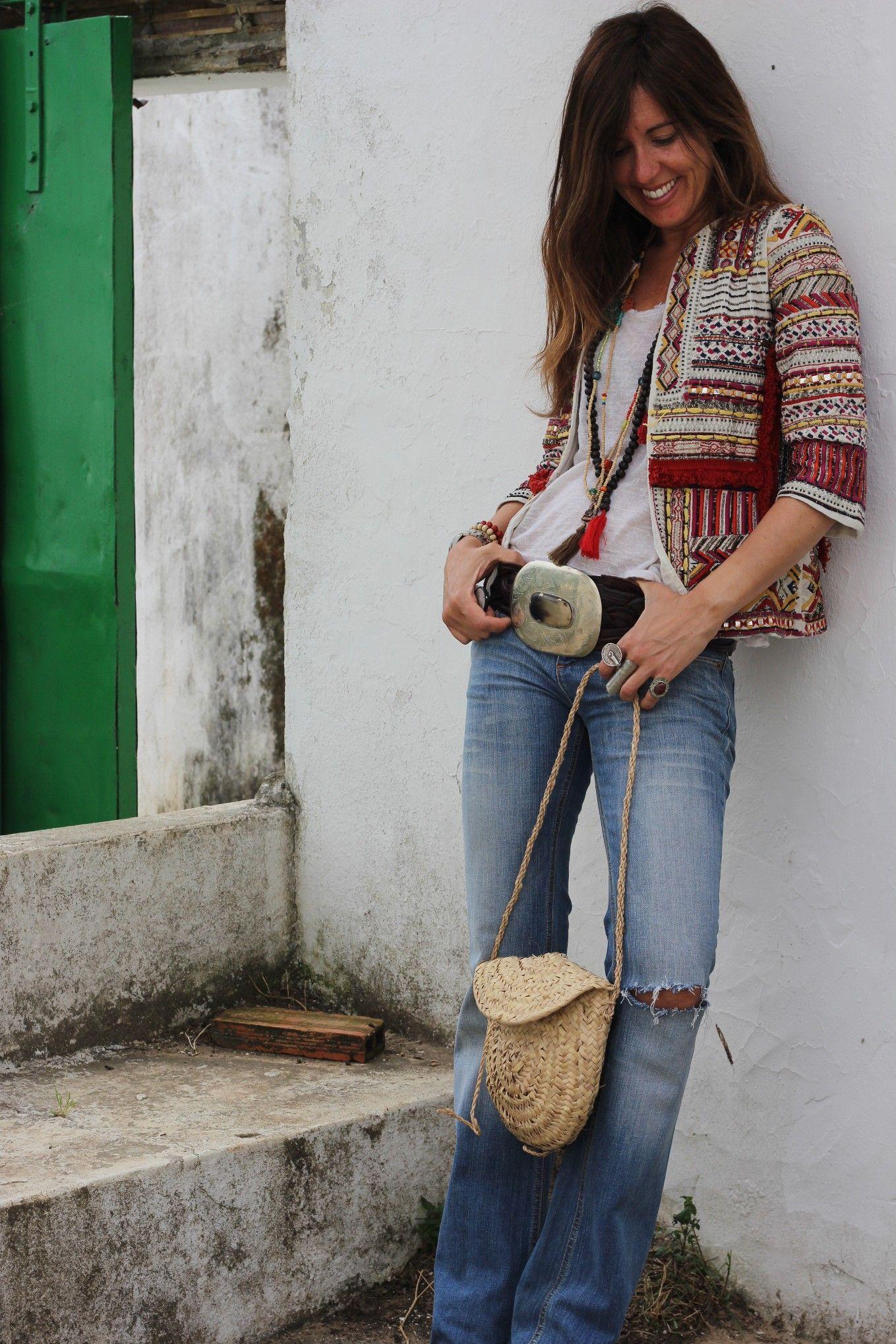 Boho Chic Ethnic Inspiration In Interior Design Projects: Ethnic Zara Afghan Jacket, Blazer, Indian Embellished