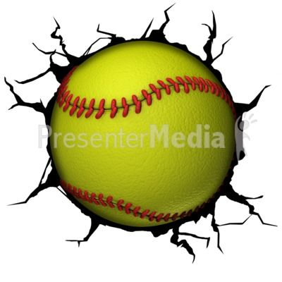 this clip art image shows a softball breaking though a wall rh pinterest com wall clipart black and white wall clipart images