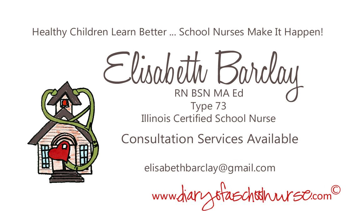independent School Nurse business card   She Means Business ...