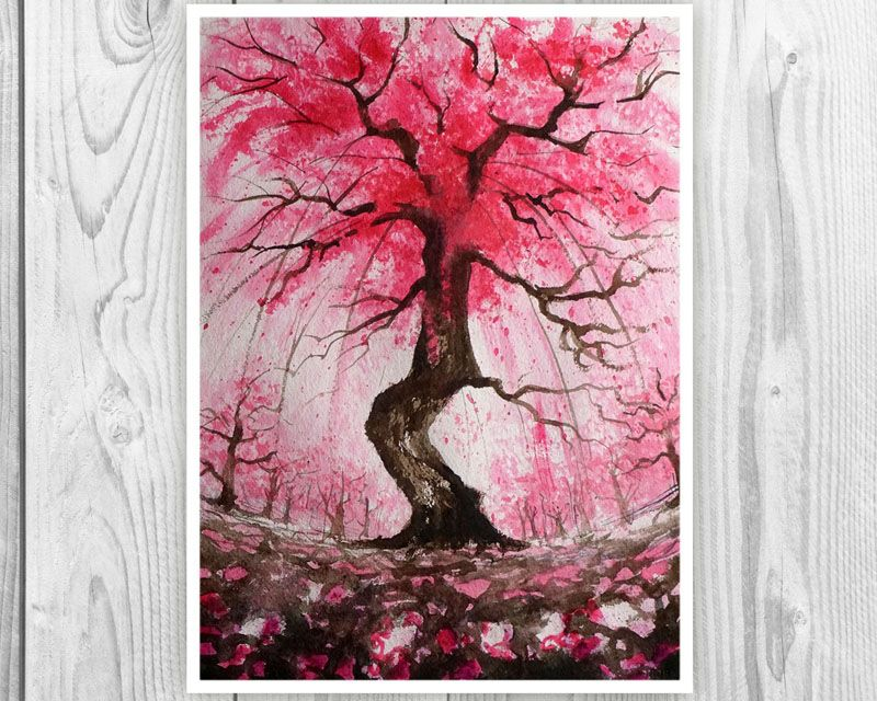 25 Ideas For Including Cherry Blossom Wall Art In Your Home Cherry Blossom Wall Art Blossoms Art Cherry Blossom Art