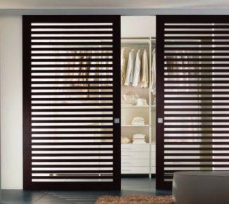 Puerta lamas de madera transparent opac pinterest - Puerta de lamas ...