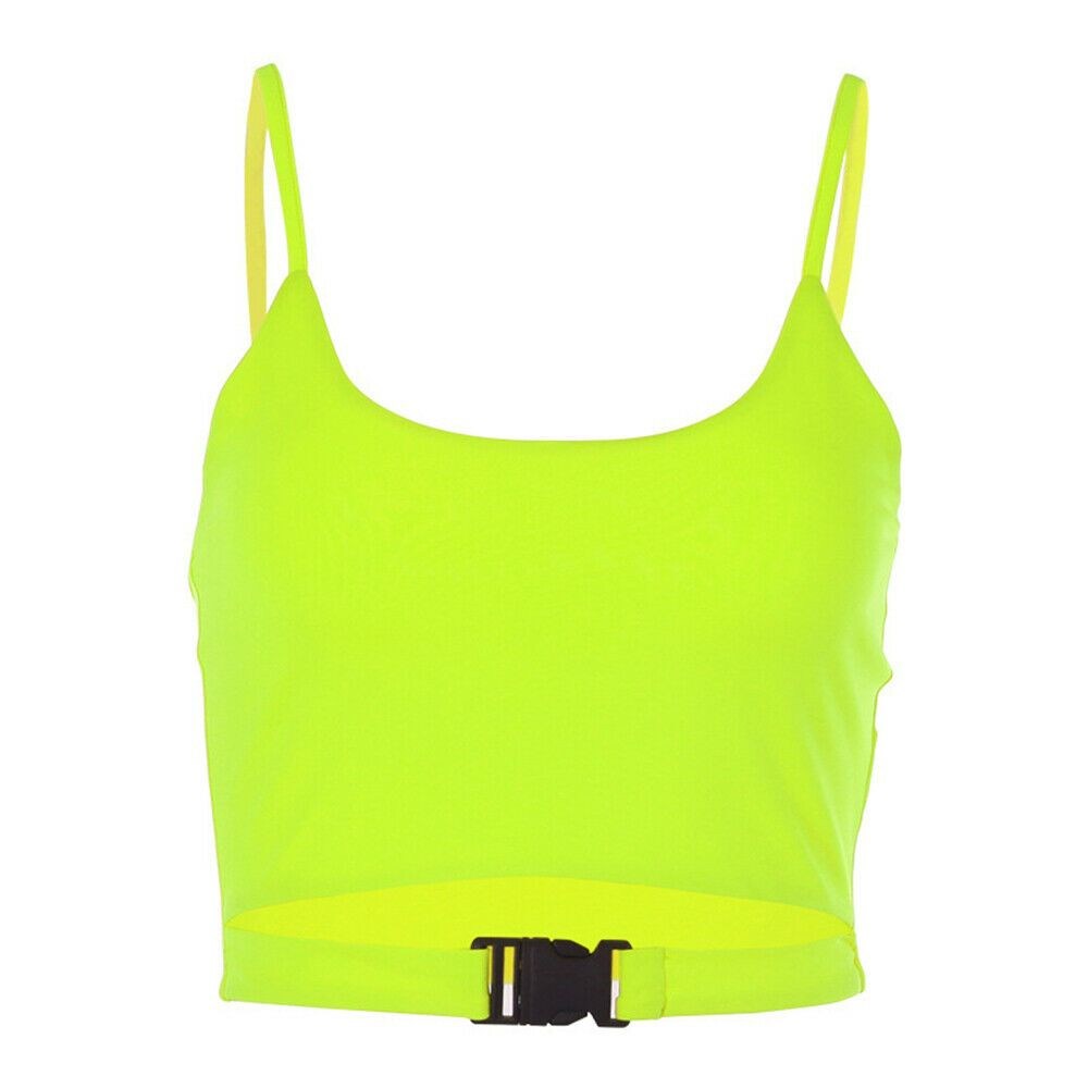 0a527fa01b5 Crop Top Sexy Club Party Wear Tank Tops Short Vest Bag Buckle ...