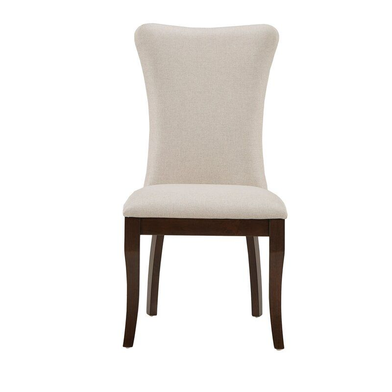 Delaplaine Wingback Upholstered Dining Chair With Images