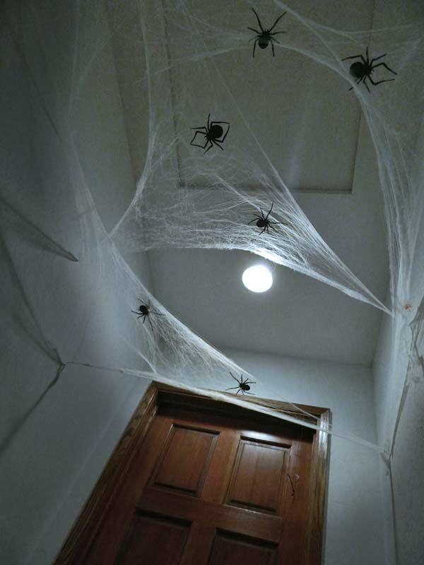 DIY Spooky Halloween Hallway Halloween - Spider theme Pinterest