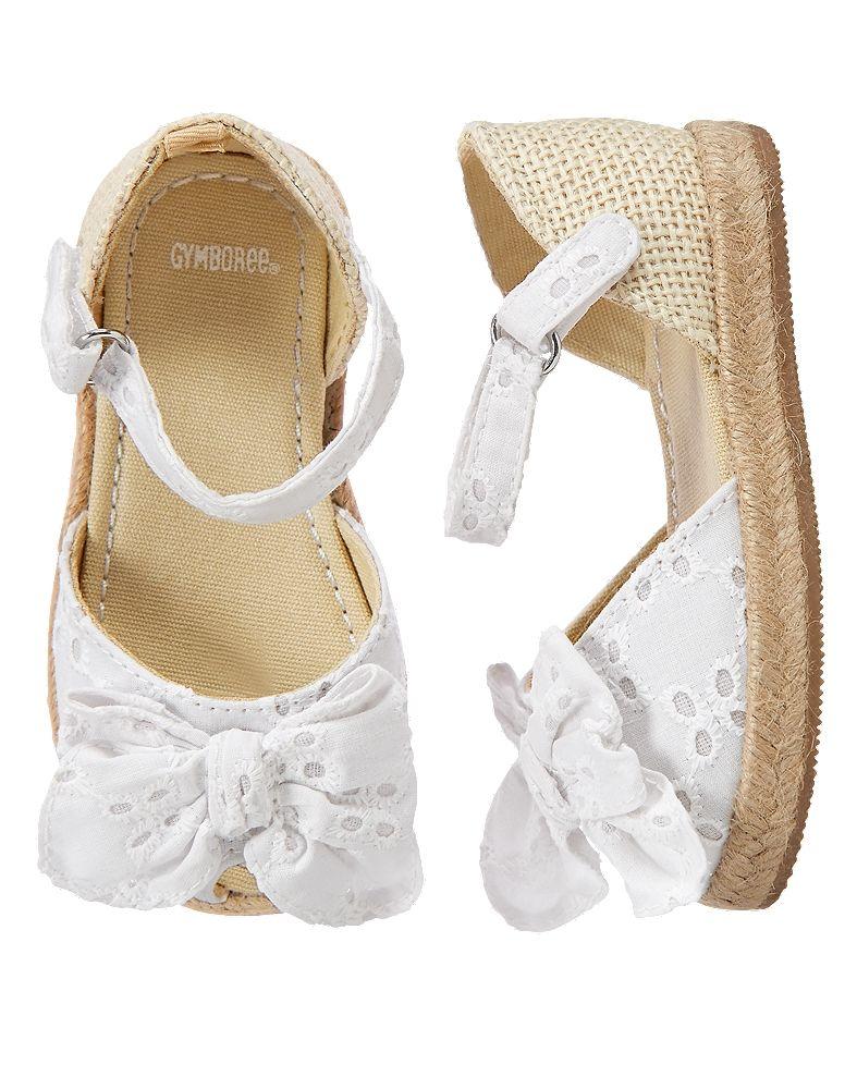 NWT Gymboree Dressed Up White Eyelet Sandals Crib Shoes Baby Girl Infant