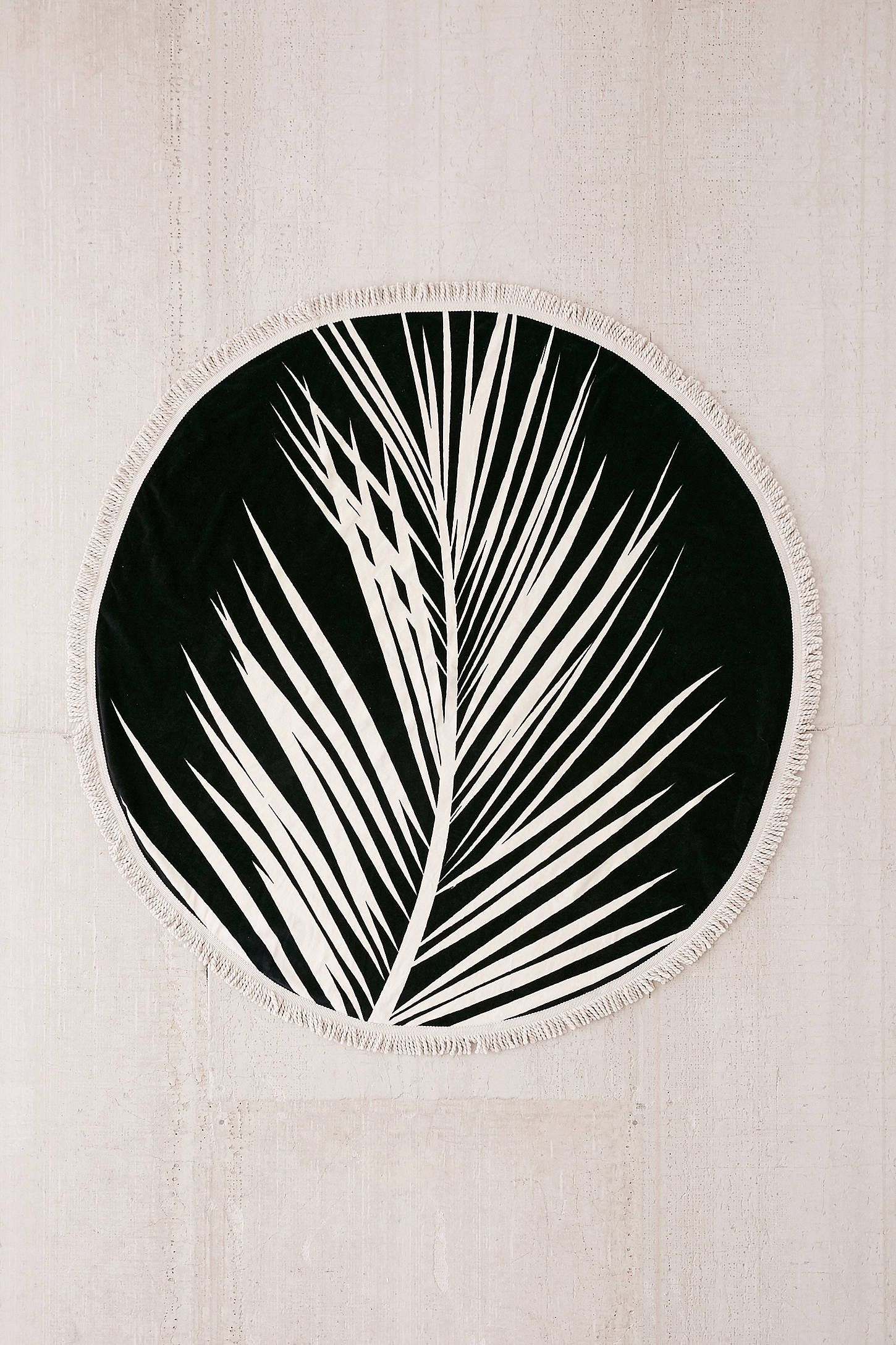 Slide View 2 Maui Round Fringe Trim Beach Towel