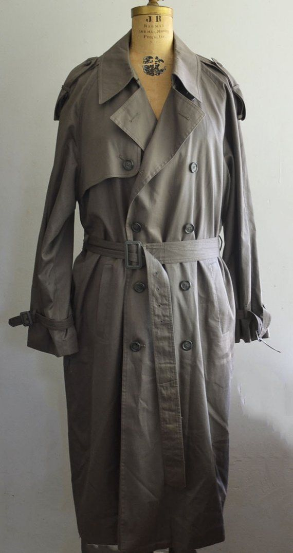 e0651c588a3 Yves Saint Laurent Trench-Coat / Gray YSL coat size 44R | Products ...