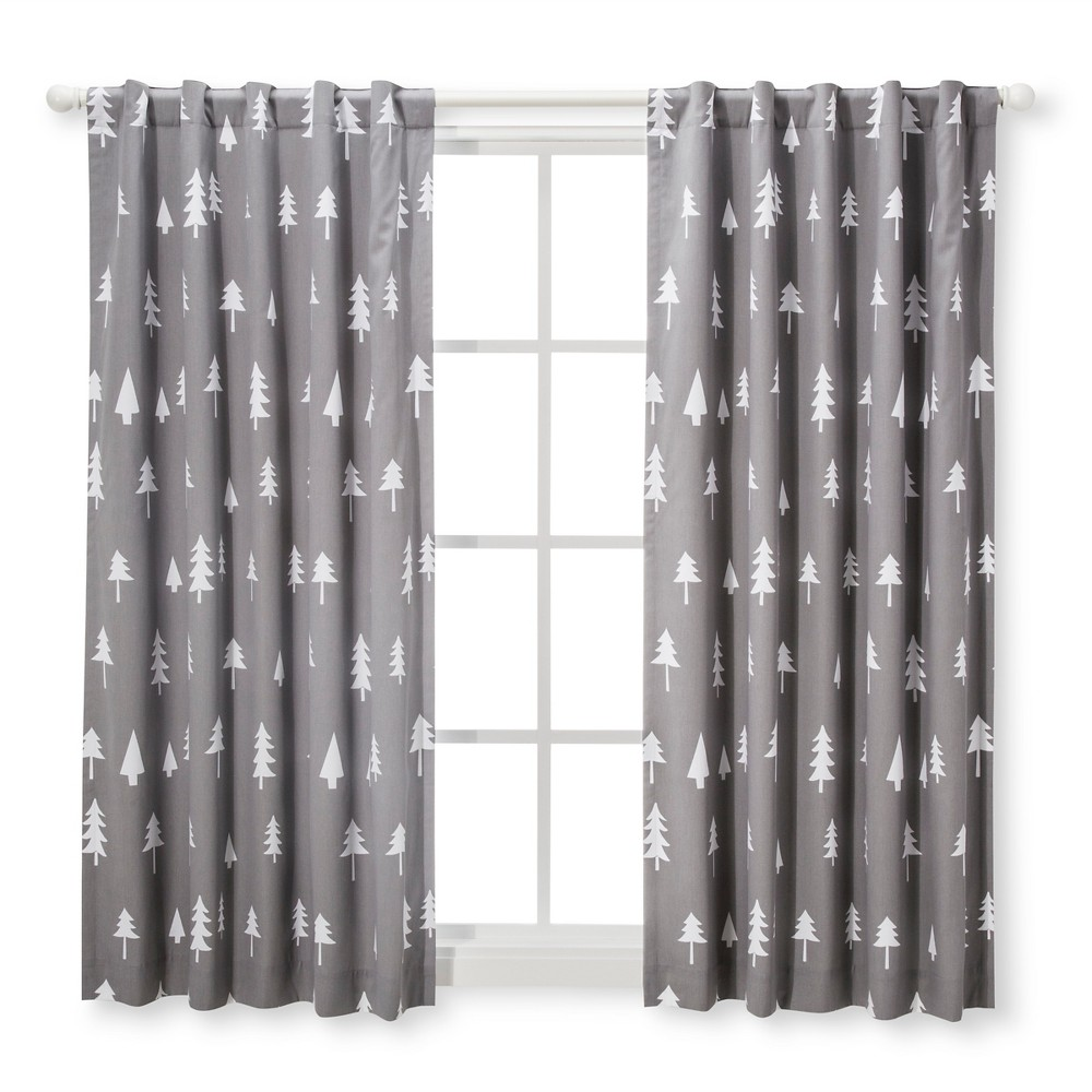 Blackout Curtain Panel Trees 42 X 63