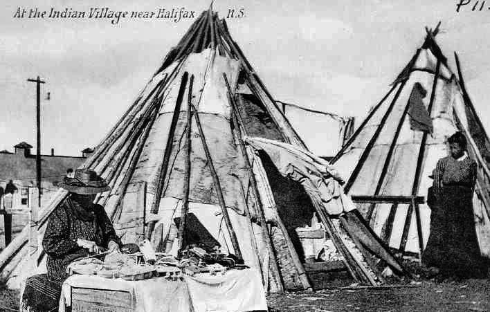 MI'KMAQ VILLAGE NEAR HALIFAX (NOVA SCOTIA) , 1906