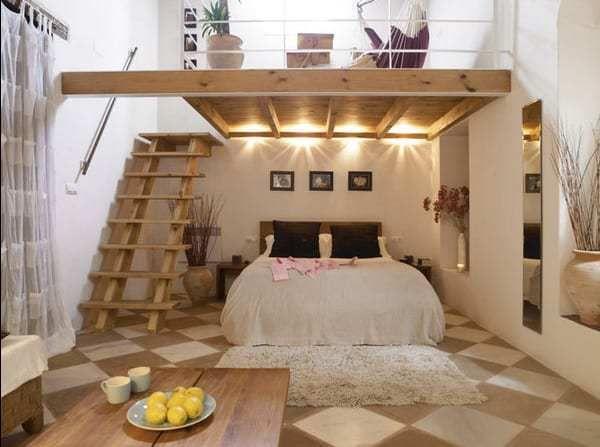 65+ Marvelous Farmhouse Bedroom Ideas | Loft spaces ...