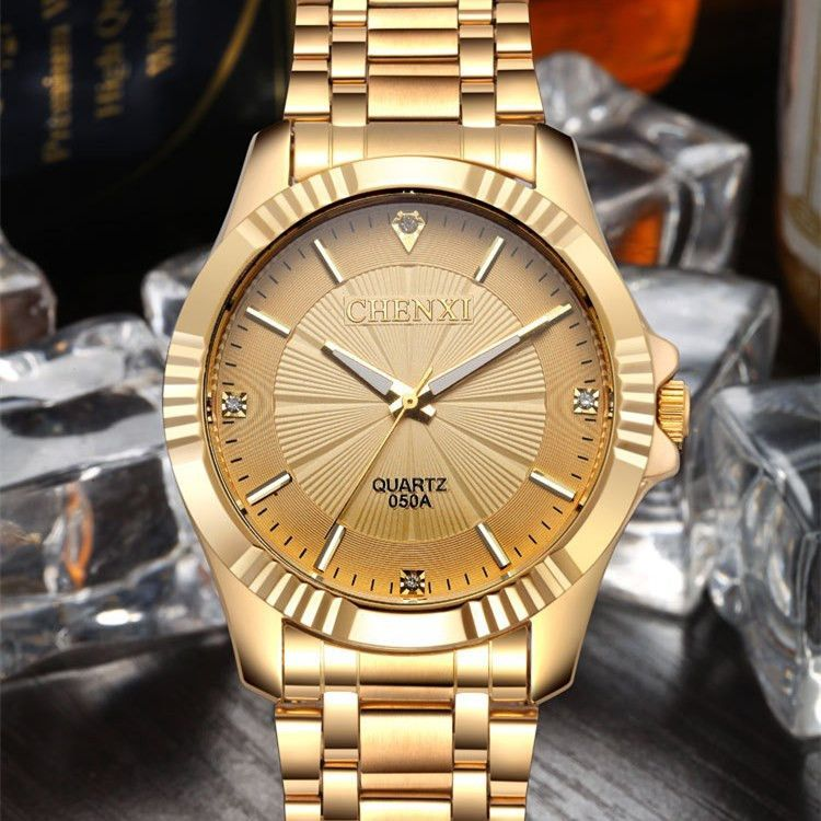 natate chenxi clock gold fashion men watch full gold stainless natate chenxi clock gold fashion men watch full gold stainless steel quartz watches wrist watch whole