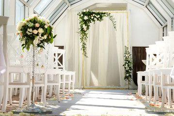 White wedding ceremony decorations indoor wedding when bad weather white wedding ceremony decorations indoor wedding when bad weather junglespirit Images