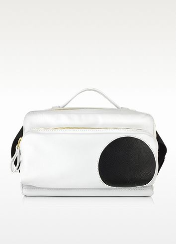 PIERRE HARDY Reporter White Leather Bumbag. #pierrehardy #bags #shoulder bags #leather