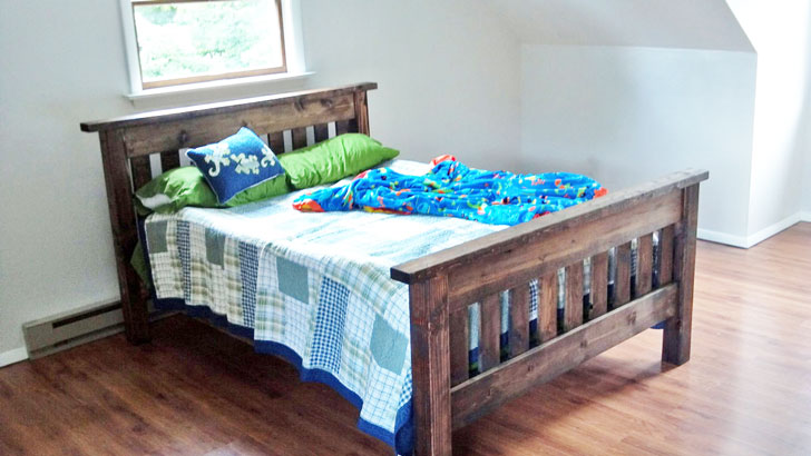 Simple Bed Full Size Bed Frame With Images Simple Bed Full Size Bed Frame Full Bed Frame Diy