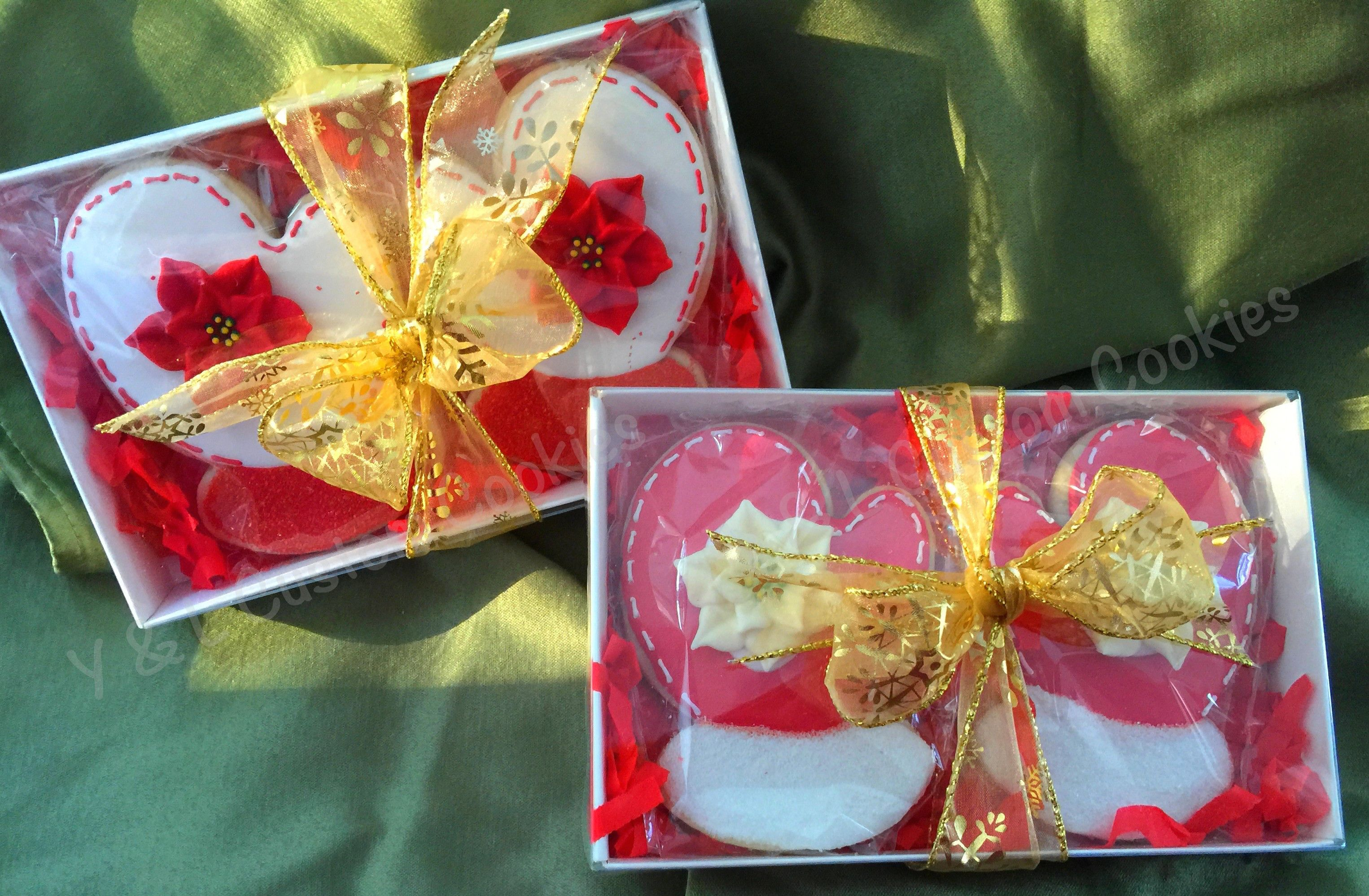 Christmas mittens decorated cookies christmas cookie gift box