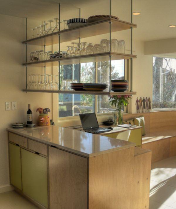 Hanging Upper Kitchen Cabinets: Uncommon (but Fantastic) Shelves