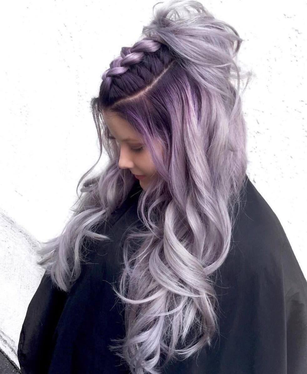 Platinum amethyst smoke by Ross Michael's Salon using Guy Tang Mydentity with  Olaplex.