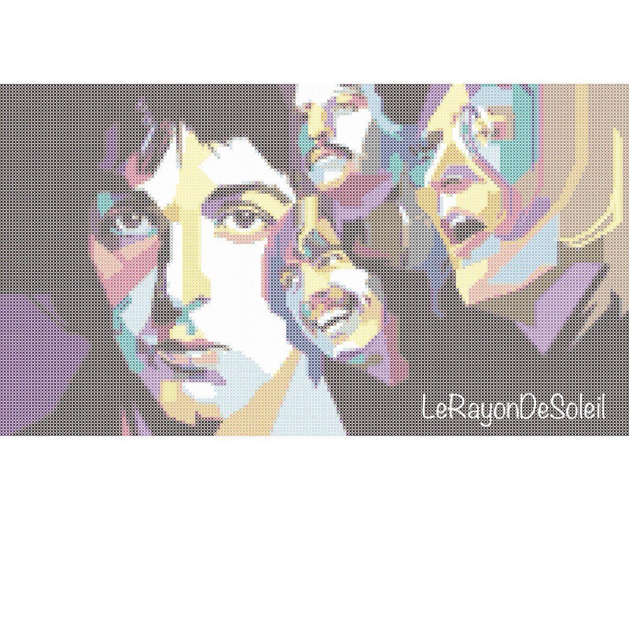 The Beatles modern cross stitch pattern Wedha door LeRayonDeSoleil