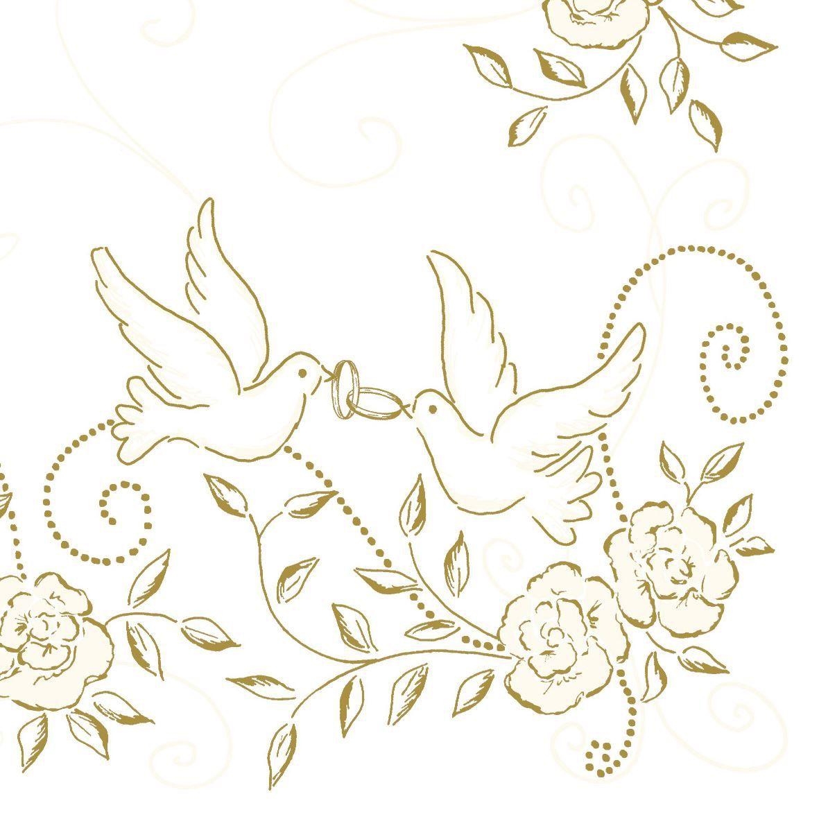 Linclass Servietten 40x40 Cm Hochzeit Cremegold