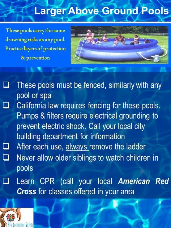 Larger Above Ground Pools Also Need Similar Layers Of Protection Just Like In Ground Pools Pool Safety In Ground Pools Above Ground Pool