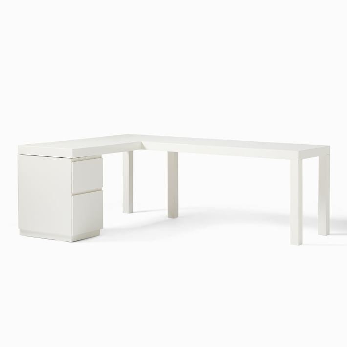 Parsons L Shaped Desk Amp File Cabinet Set In 2020 L Shaped Desk Filing Cabinet Desk