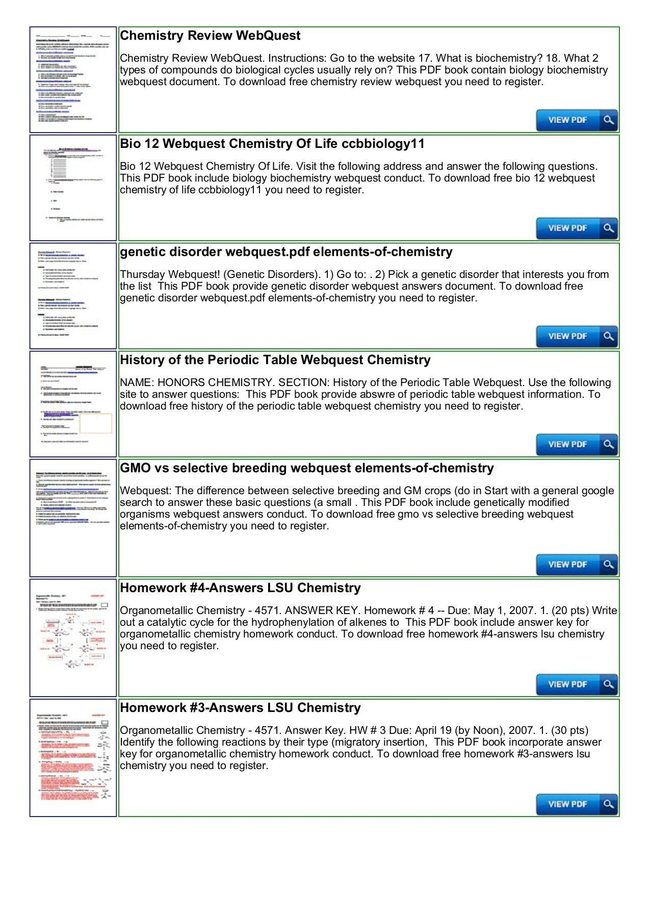 20 Periodic Table Webquest Worksheet Answers In