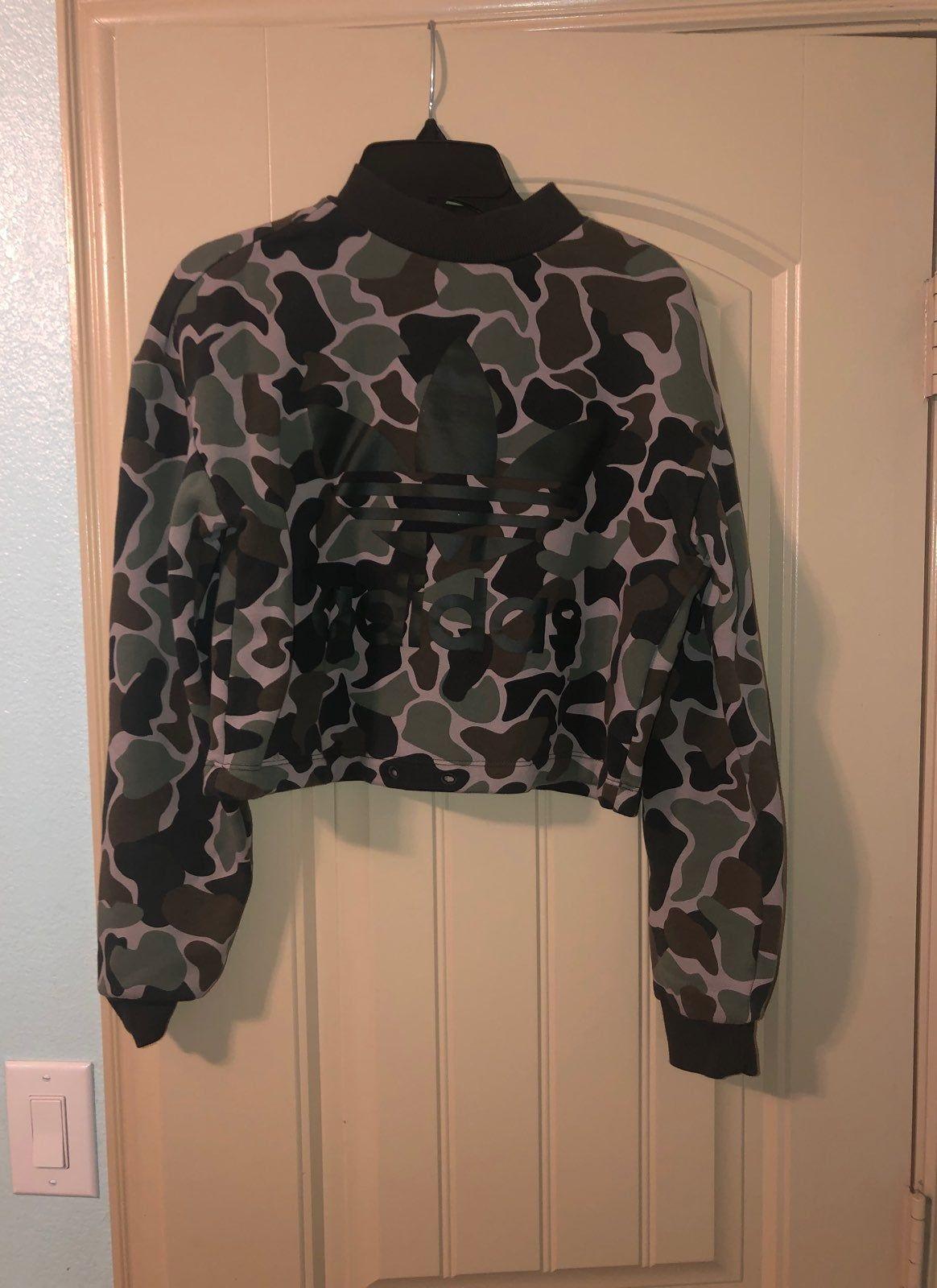 Camouflage Fun Crop Top Sweater Adidas Adidas Crop Sweater Adidas Crop Sweaters [ 1600 x 1164 Pixel ]