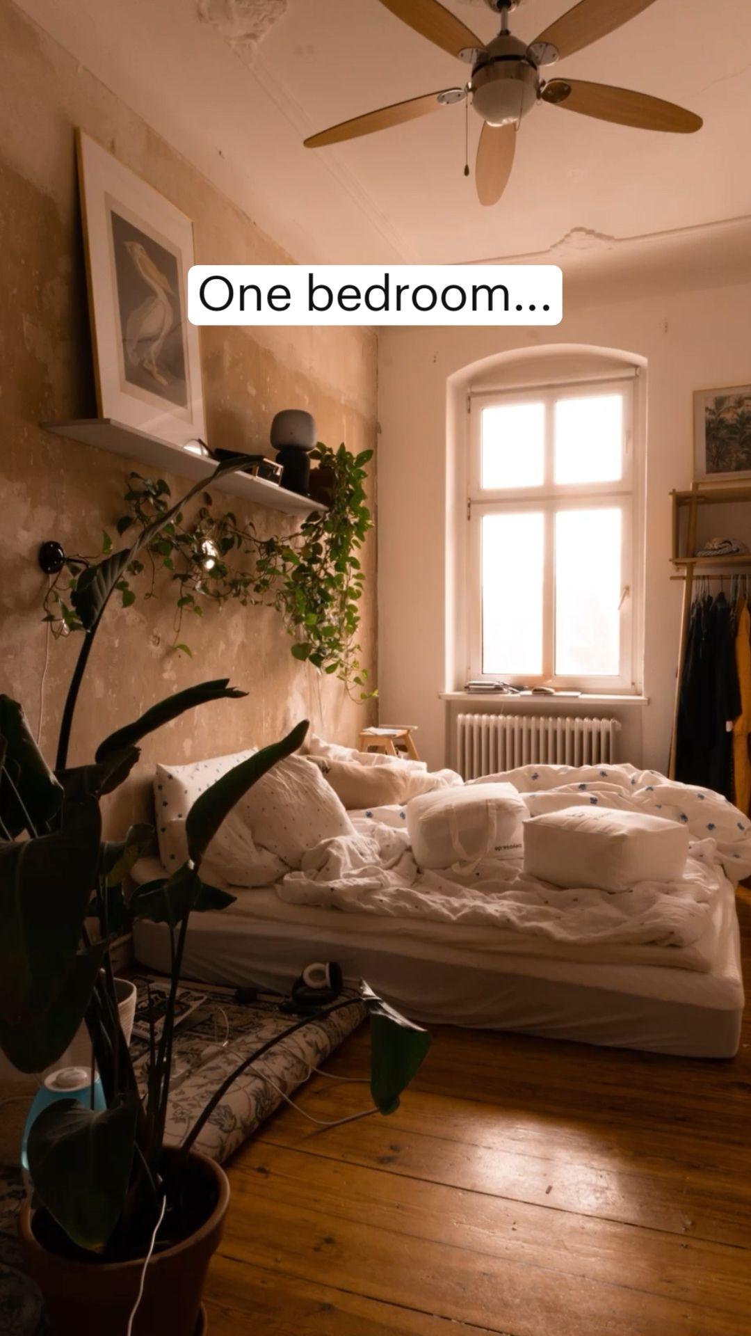 One bedroom...