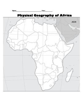 Key Physical Features Of Africa Map.Pin On Ss Geography Gr 5