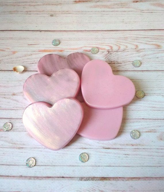 Heart Soap Set 5 Gift Idea For Sister Valentines Day Gift Pink Heart