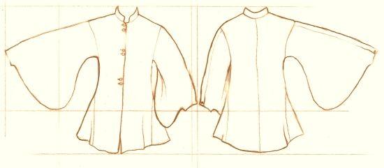 Bag-sleeved cotte. Late merchant   0001 / Tutorials, Schemes ...