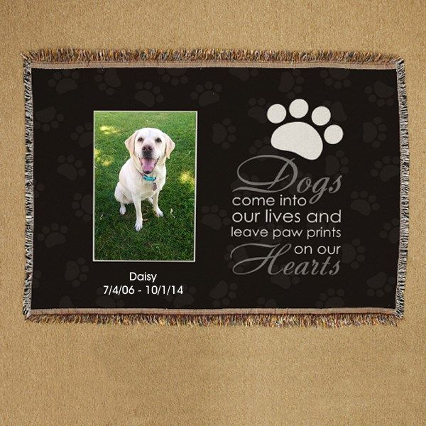 Personalized Pet Memorial Throw Blanket Pet Memorial