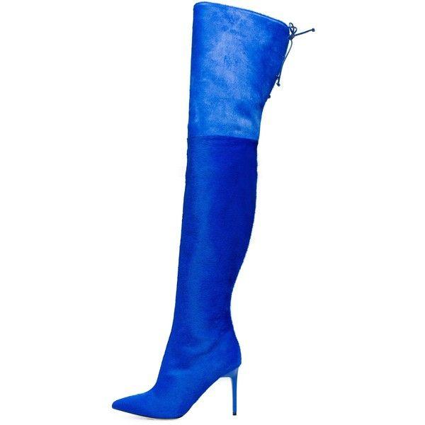 8367b4a103fe Oscar de la Renta Sapphire Pony Hair Frederikke Boots ( 2