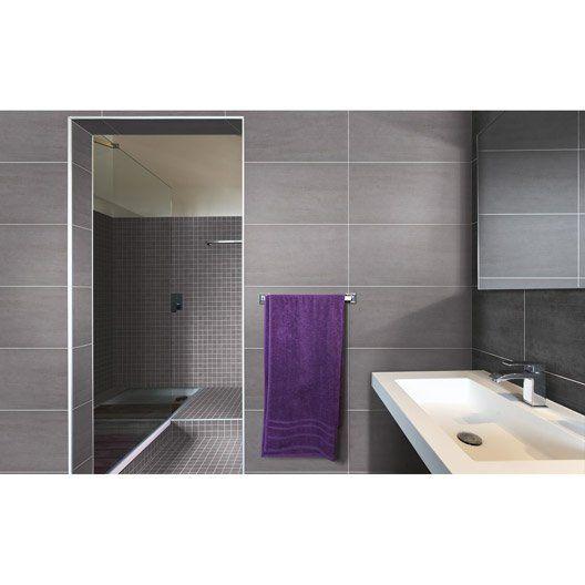 Carrelage sol et mur gris clair eiffel x cm salle de bain pinterest murs gris - Carrelage salle de bain clair ...