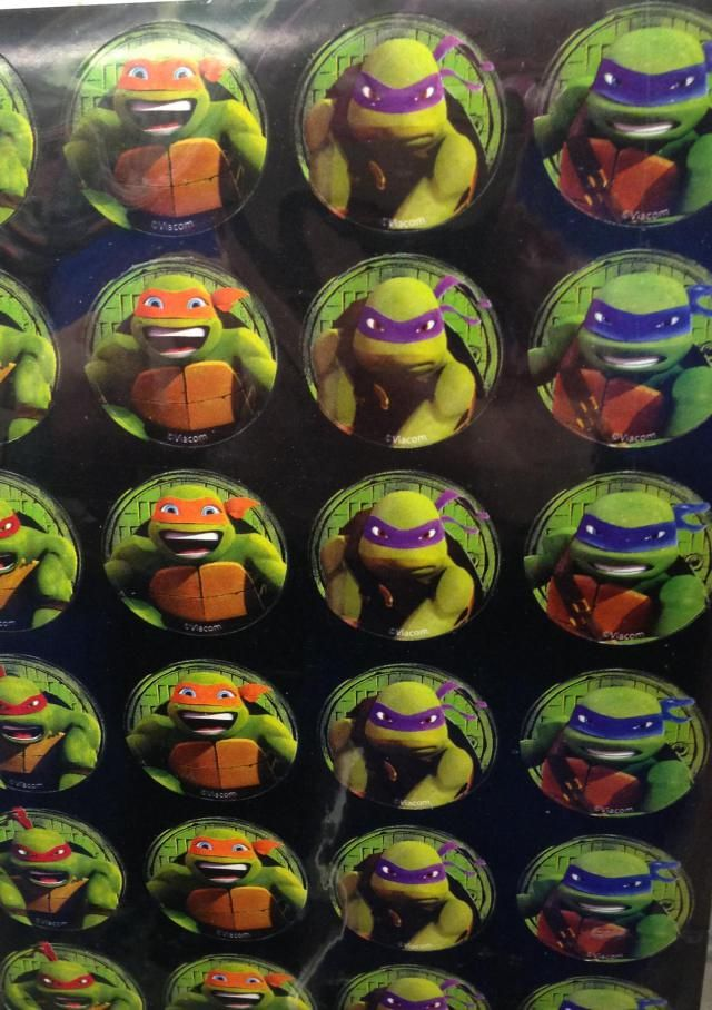 The Ninja Turtles always remind me of when Jake and Roman were young!