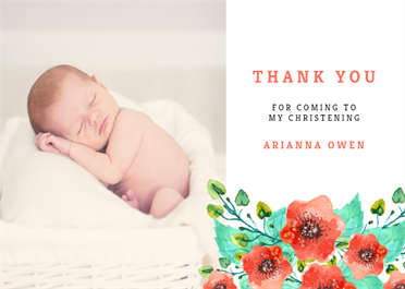 Royal Garden Baptism Thank You Card Free Greetings Island Baptism Thank You Cards Free Thank You Cards Cards
