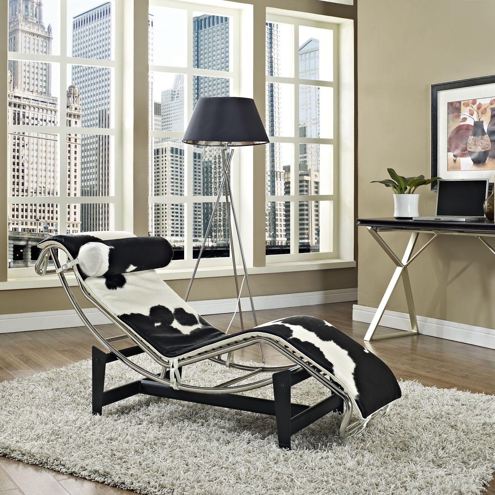 Le Corbusier - Liege LC4 Fell »« LC4 chaise lounge Pony pelt ...